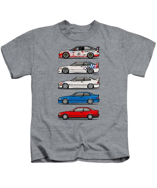 Stack Of Bmw 3 Series E36 Coupes Kids T-Shirt