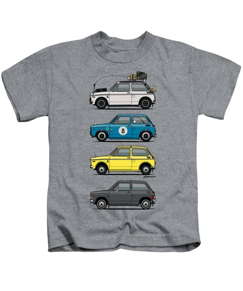 Stack Of Honda N360 N600 Kei Cars Kids T-Shirt