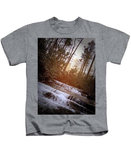 Stair Step Falls Table Rock South Carolina Kids T-Shirt