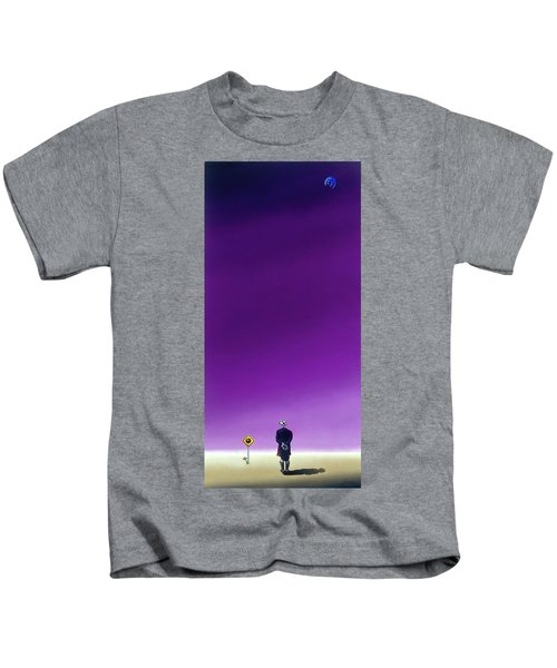 Standing Alone Waiting For The Bowling Balls To Fall When Night Comes Kids T-Shirt