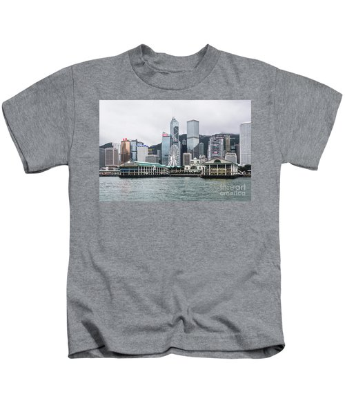 Star Ferry Building Terminal In The Central Business District Of Kids T-Shirt