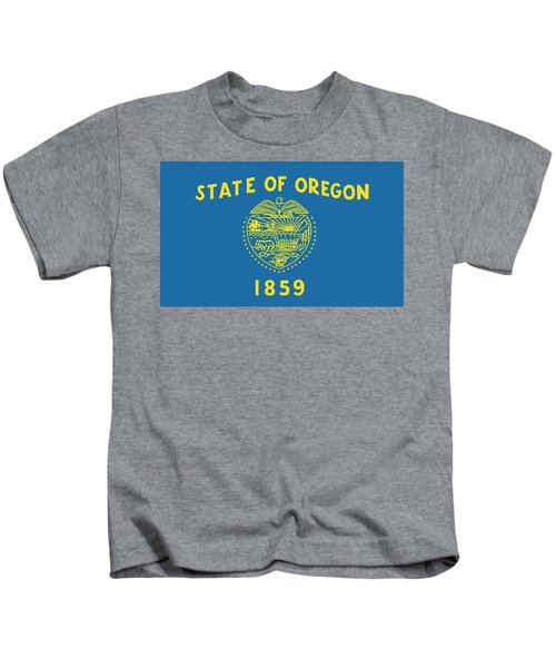 State Flag Of Oregon Kids T-Shirt
