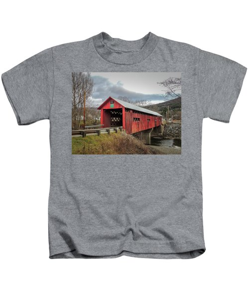 Station Covered Bridge Kids T-Shirt