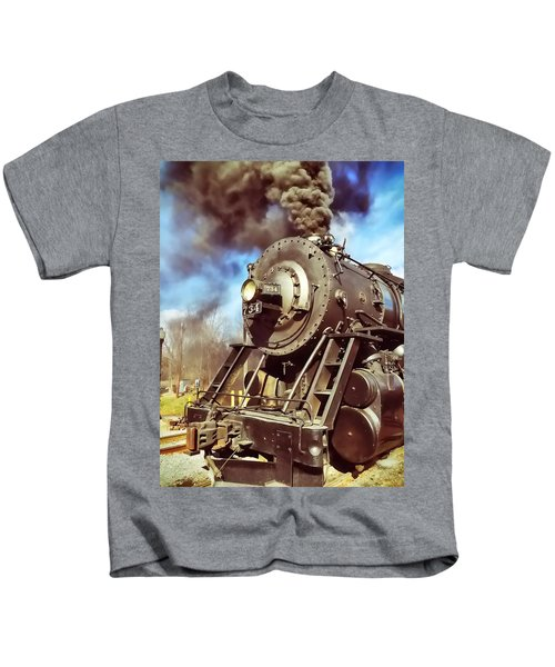 Kids T-Shirt featuring the photograph Steam Engine by Chris Montcalmo