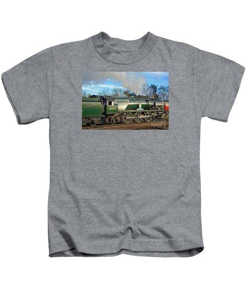 Steam Locomotive Elegance Kids T-Shirt