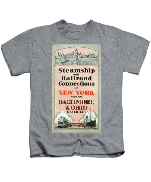 Steamship And Railroad Connections At New York Kids T-Shirt