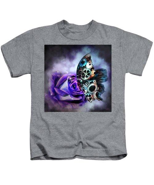 Steel Butterfly Kids T-Shirt