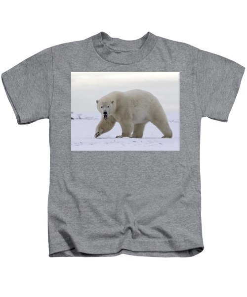 Stepping Out In The Arctic Kids T-Shirt