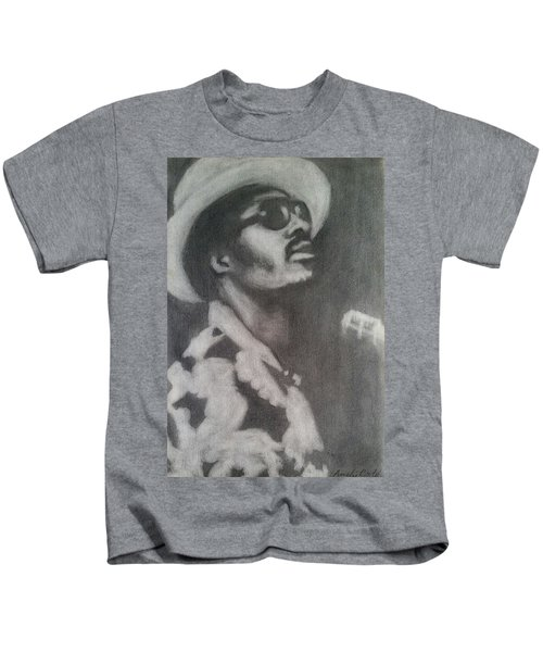 Kids T-Shirt featuring the painting Stevie by Amelie Simmons