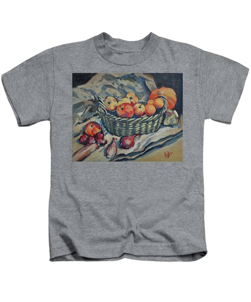 Still Life With Fruit And Vegetables Kids T-Shirt
