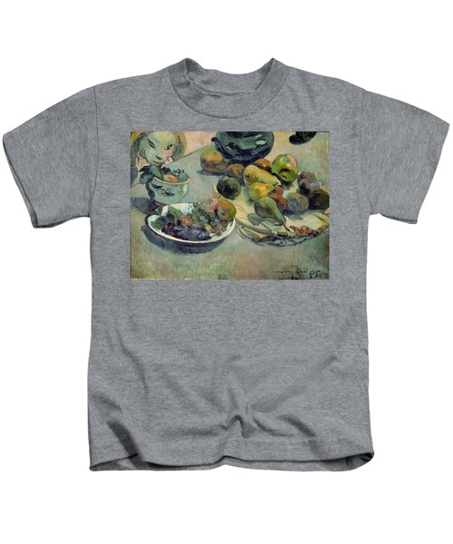 Still Life With Fruit Kids T-Shirt by Paul Gauguin