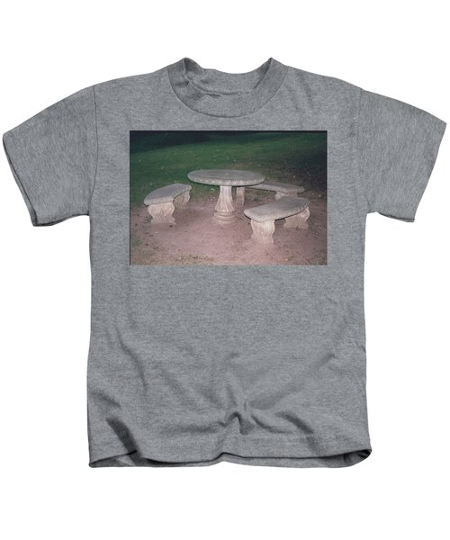Stone Picnic Table And Benches Kids T-Shirt