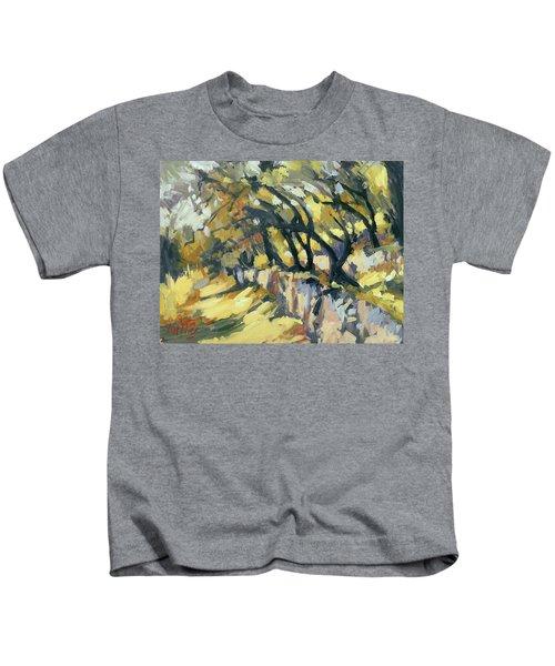 Stone Wall Olive Grove Terrace Kids T-Shirt