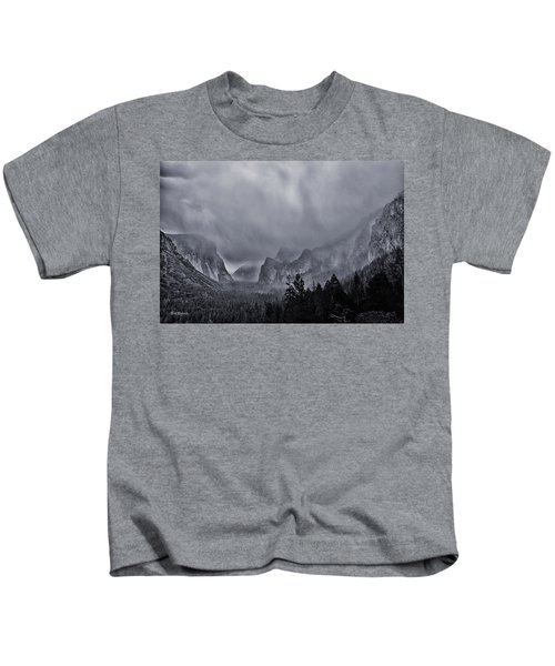 Storm Over Yosemite Kids T-Shirt