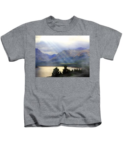 Storms A Coming-lower Two Medicine Lake Kids T-Shirt