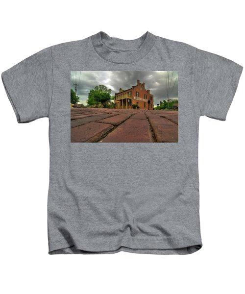 Stormy Morning On Main Street Kids T-Shirt