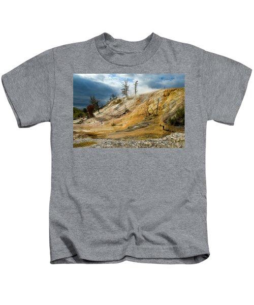 Stormy Skies At Mammoth Kids T-Shirt