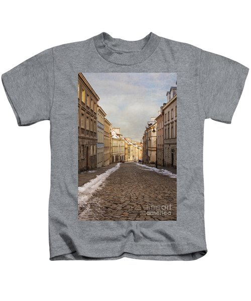 Street In Warsaw, Poland Kids T-Shirt