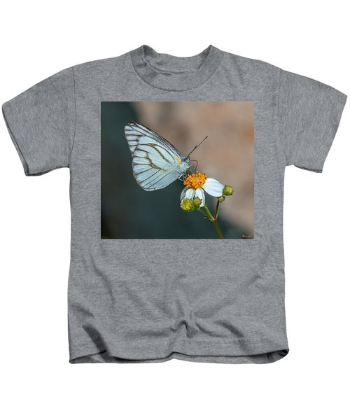 Striped Albatross Butterfly Dthn0209 Kids T-Shirt