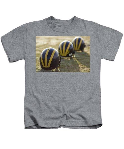 Striped Helmets On A Yard Line Kids T-Shirt