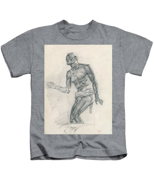 Study Of A Male Nude Study For The Death Of Seneca Kids T-Shirt
