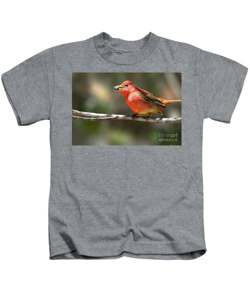 Stuffed Summer Tanager Kids T-Shirt
