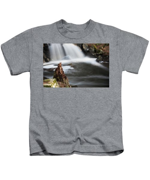 Stumped At The Secret Waterfall Kids T-Shirt