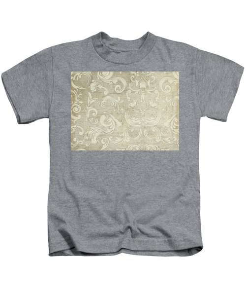 Summer At The Cottage - Vintage Style Wooden Scroll Flourishes Kids T-Shirt