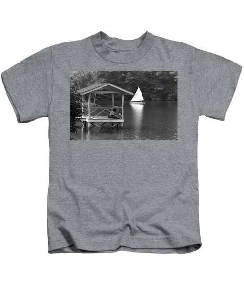 Summer Camp Black And White 1 Kids T-Shirt