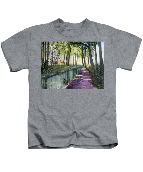 Summer Shade In Lowthorpe Wood Kids T-Shirt