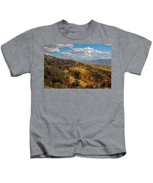 Sun Dappled Mountains Kids T-Shirt