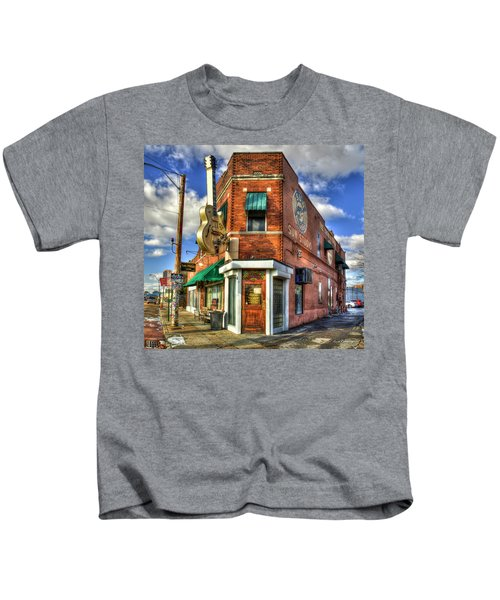 Sun Studio Rock N Roll Birthing Place Memphis Tennessee Art Kids T-Shirt