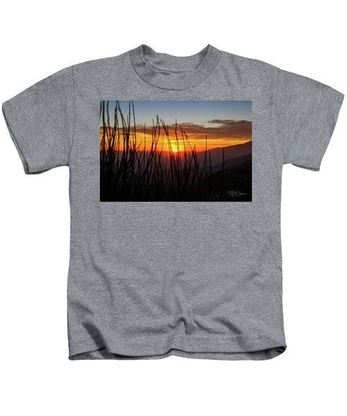 Sun Through The Blades Kids T-Shirt