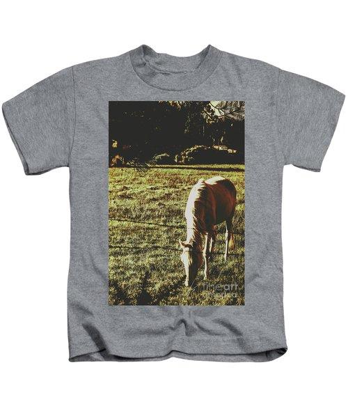 Sundown Horse Meadow Kids T-Shirt