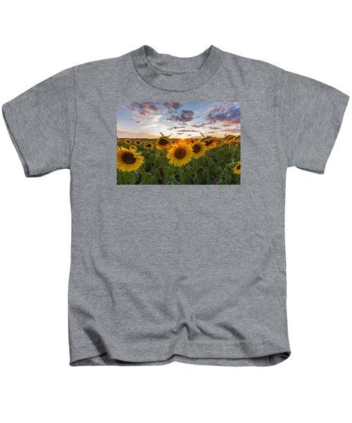 Sunflower Sunset Kids T-Shirt