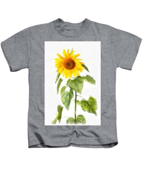 Sunflower Watercolor Kids T-Shirt