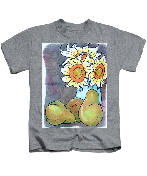 Sunflowers And Pears Kids T-Shirt