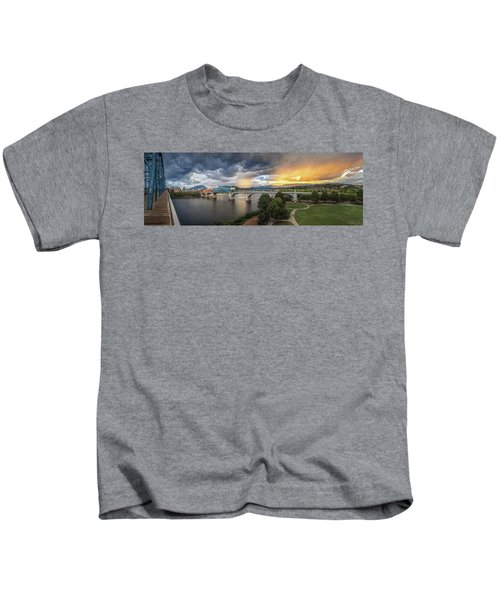 Sunlight And Showers Over Chattanooga Kids T-Shirt