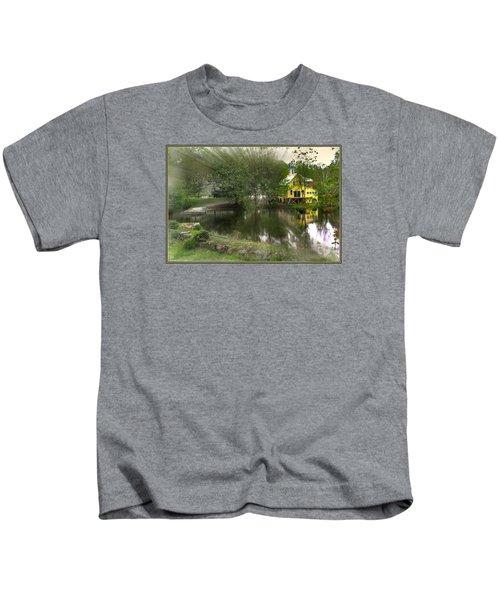 Sunlight Breaks Through On Chocorua Pond Kids T-Shirt