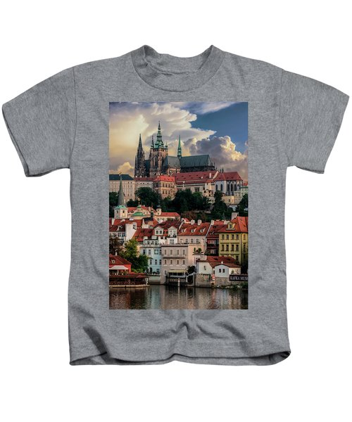 Sunny Afternoon In Prague Kids T-Shirt