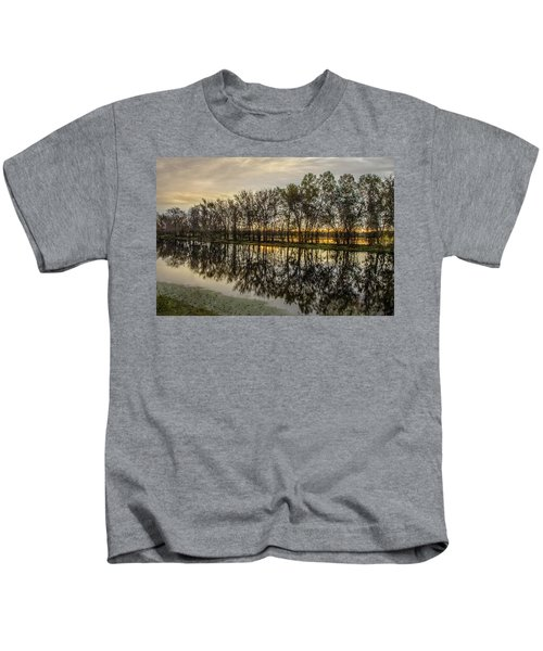 Sunrise At Brazos Kids T-Shirt