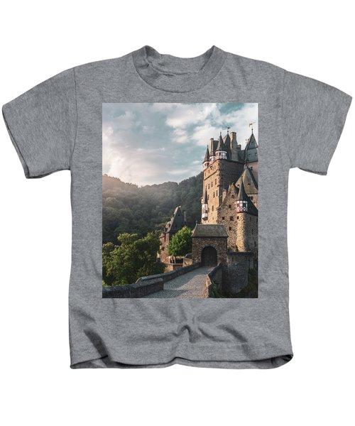 Sunrise At Castle Eltz, Germany Kids T-Shirt
