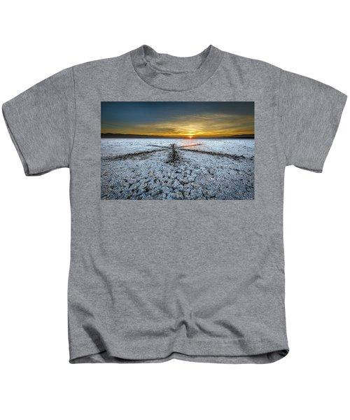 Sunrise At Soda Lake Kids T-Shirt