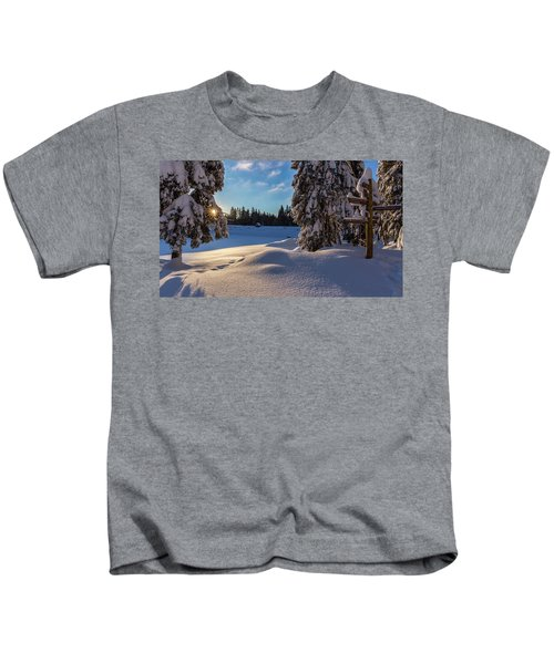 sunrise at the Oderteich, Harz Kids T-Shirt