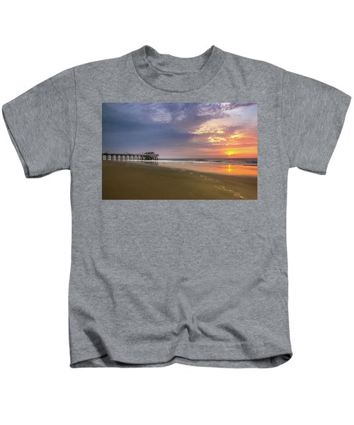 Sunrise At Tybee Island Pier Kids T-Shirt