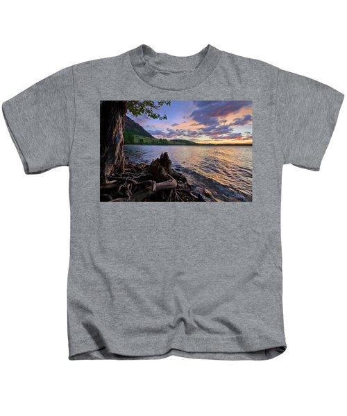 Sunrise At Waterton Lakes Kids T-Shirt