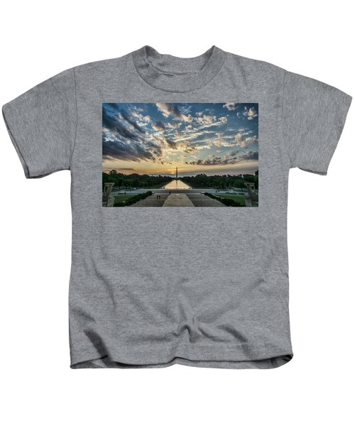 Sunrise From The Steps Of The Lincoln Memorial In Washington, Dc  Kids T-Shirt