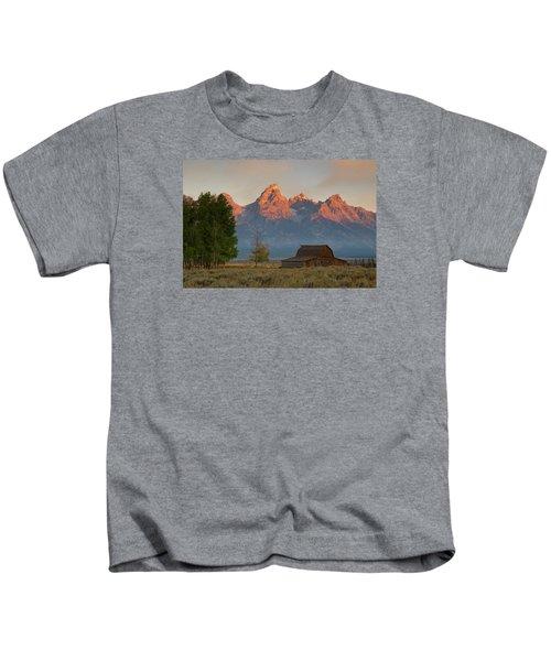 Sunrise In Jackson Hole Kids T-Shirt