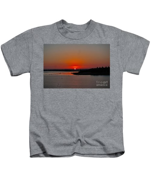 Sunrise On Lake Ray Hubbard Kids T-Shirt