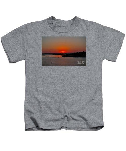 Sunrise On Lake Ray Hubbard Kids T-Shirt